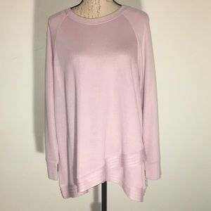 NWT IDEOLOGY Shimmer Pink Top Size 1X